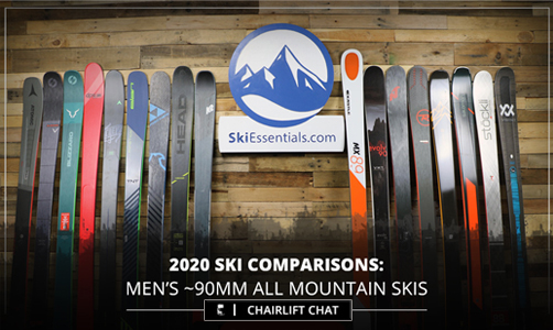 Reviewing the 90mm Mens all mountain ski category