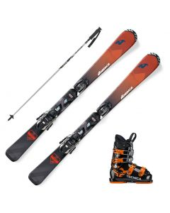2020 Nordica Navigator Team Junior Skis w/ Tecnica JT Boots and Poles