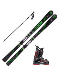 2018 Volkl Code Speedwall L UVO Skis w/ Nordica Speedmachine 100 Boots and Poles