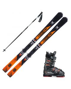 2018 Volkl RTM 81 Skis with/ Tecnica Mach Sport 80 Boots and Poles
