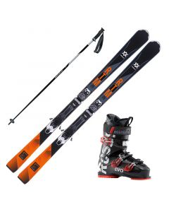 2018 Volkl RTM 76 Elite Skis w/ Rossignol Evo 70 Boot and Poles