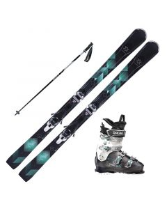 2018 Volkl Flair 81 Women's Skis w/ Dalbello DS MX 70w Boots and Poles