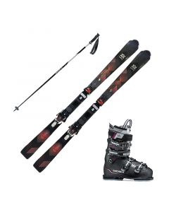 2018 Volkl Flair 78 Women's Skis w/ Tecnica Mach Sport 75w Boots and Poles