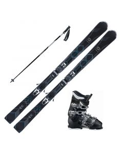 2018 Volkl Flair 76 Elite Women's Skis w/ Dalbello DS MX 65w Boots and Poles