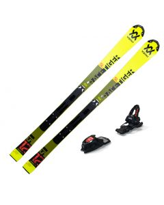2020 Volkl Junior Racetiger Speedwall SL R Skis w/ Marker Race 10 TCX Bindings