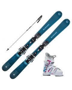 2021 Blizzard Sheeva Junior Skis w/ Rossignol Fun Girl Boots and Poles