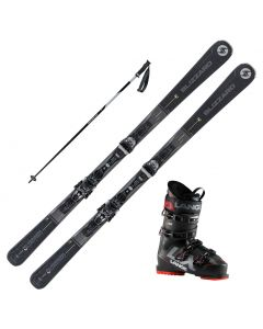 2021 Blizzard Quattro 7.2 Skis w/ Lange LX 90 Boot and Poles