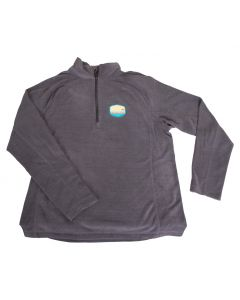 Stowe VT Womens Textured Quarter Zip Terramo Fleece