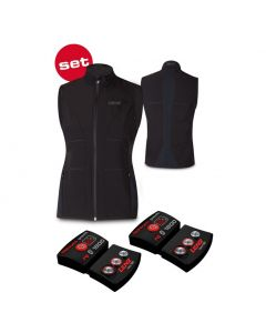 Lenz Women's Heat Vest 1.0 + Lithium pack rcB 1800