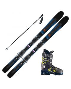 2019 Salomon XDR 76 ST Skis w/ Salomon X Access 80 Boots and Poles