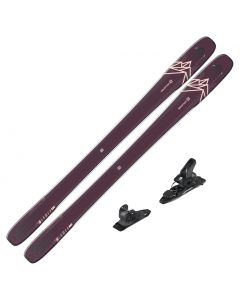 2020 Salomon QST 99 Lumen Women's DEMO Skis w/ Salomon Warden MNC 11 Bindings