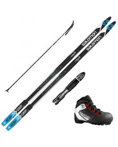 2020 Salomon Aero Junior Grip XC Skis w/ Salomon Team Prolink Jr Boot and Poles