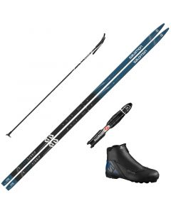 2021 Salomon Escape 5 Grip XC Skis w/ Salomon Escape Boot and Poles