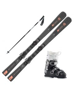 2021 Salomon Womens S/Force W 5 Skis w/ Rossignol Kelia 50 Boot and Poles