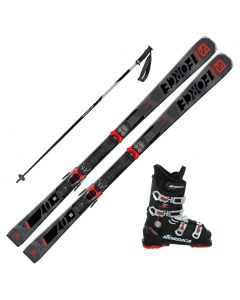 2021 Salomon S/Force 7 Skis w/ Nordica Cruise 70 Boots and Poles