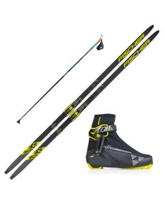 2020 Fischer SCS Skate Skis w/ Fischer RC5 Combi Boots and Skate Poles
