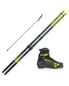 2021 Fischer Aerolite Classic 60 Skis w/ Rossignol X2 Boots and Poles