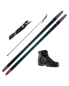 2021 Rossignol BC 65 Cross Country Skis w/ Rossignol Bc X5 Boots and Poles