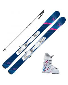 2020 Rossignol Experience W Pro Junior Skis w/ Rossignol Fun Girl Boot and Poles