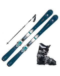 2020 Rossignol Nova 4 Women's Skis w/ Dalbello DS MX 65w Boot and Poles