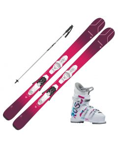 2021 Rossignol Experience Pro W Jr Skis w/Rossignol Fun Girl Boots and Poles