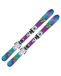 2018 K2 Junior Luv Bug Fastrak Skis w/ FDT Bindings