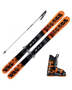 2020 K2 Junior Juvy Fastrak Skis w/ Tecnica JT4 Boots and Poles