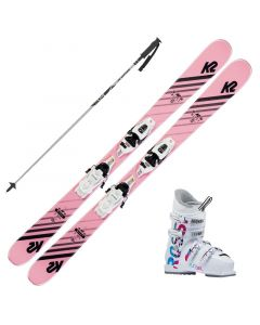 2020 K2 Junior Missy Fastrak Skis w/ Rossignol Fun Girl Boots and Poles