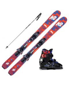 2021 K2 Junior Indy Fastrak Skis w/ K2 Indy Boots & Poles