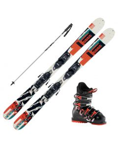 2021 K2 Jr Juvy Fastrak Skis w/ Rossignol Comp J Boots and Poles