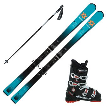 2022 Volkl Deacon 7.2 Skis w/ Nordica Cruise 70 Boots and Poles