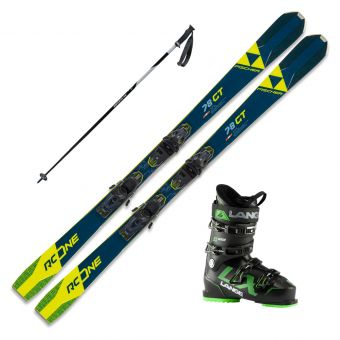 2021 Fischer RC ONE 78 GT Skis w/ Lange LX 100 Boot and Poles