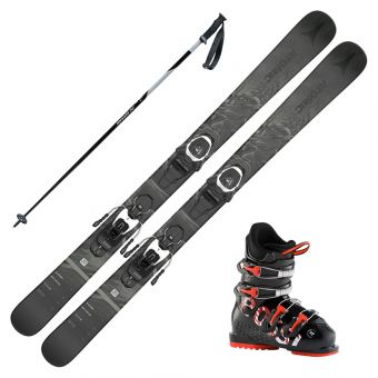 2022 Atomic Bent Chetler Jr Skis w/ Rossignol Comp J4 Boots and Poles
