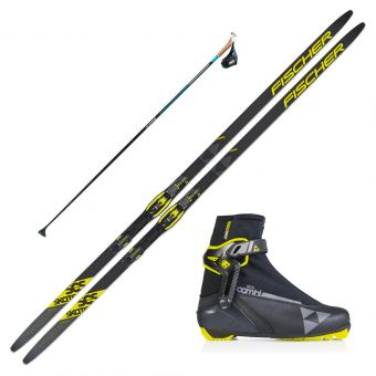 2022 Fischer SCS Skate Skis w/ Fischer RC5 Combi Boots and Skate Poles