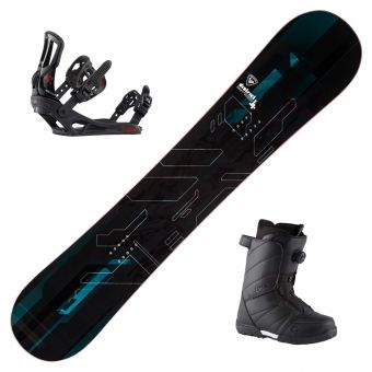 2022 Rossignol District Black Snowboard w/ Boots and Bindings