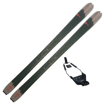 2022 Rossignol BC 120 Wax Base Backcountry Touring Skis w/ 75mm Binding