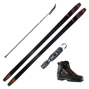 2021 Rossignol BC 80 Positrack Touring Skis w/ Rossignol BC X5 Boots and Poles