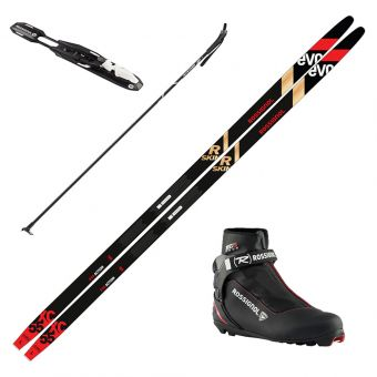 2022 Rossignol Evo XC 55 R-Skin Skis w/ Rossignol XC 5 Boots and Poles