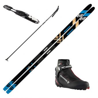 2022 Rossignol Evo XC 60 R-Skin Skis w/ Rossignol XC5 Boots and Poles