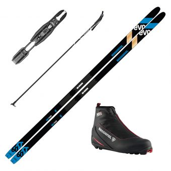 2022 Rossignol Evo XT 60 Positrack Skis w/ Rossignol XC 2 Boots and Poles