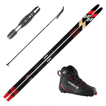 2022 Rossignol Evo XT 55 Skis w/ Rossignol XC 1 Boots and Poles