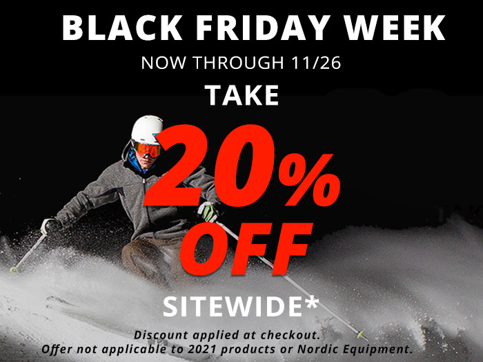 Black Friday Week. Now through 11/26, take 20% off sitewide.