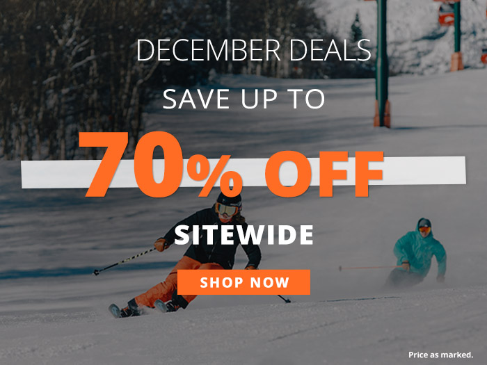 Save up to 70% off Sitewide. Prices as Marked.